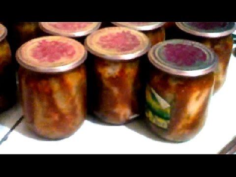 ƒомашние консервы- бычки в томате