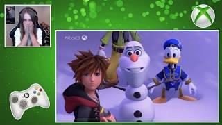 KINGDOM HEARTS 3 – E3 2018 Frozen Trailer Reaction!