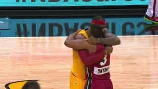 LeBron James Returns to Miami, Greets Dwyane Wade