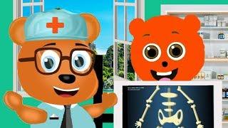Mega Gummy bear visits the Doctor New Cartoon Animation Nursery Rhymes