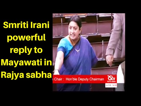 Smriti Irani slams Mayawati in Rajya sabha for her cheap politics on sensitive issue.