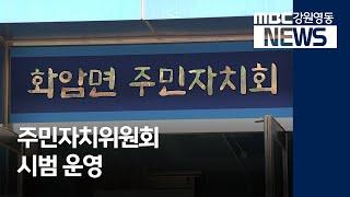 투R)정선군 주민자치위원회 시범 운영 시작