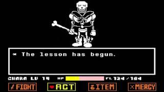 Undertale Revenge the unseen ending fan made Disbelief Papyrus