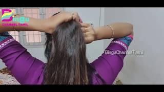 Easy Messy Bun Hairstyle/Banana Clip Hairstyle/Bingu Channel Tamil