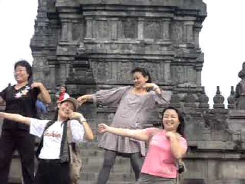 Laughter Yoga at Prambanan Temple, Indonesia