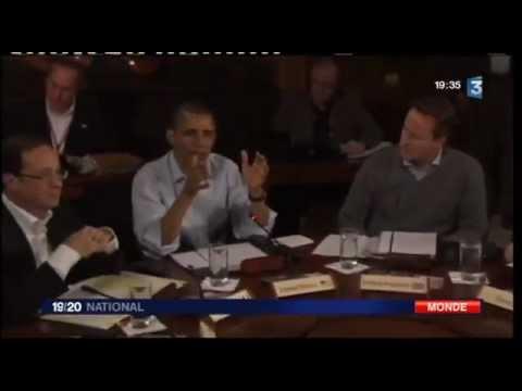 François Hollande, le Président de La République: normal avec Obama