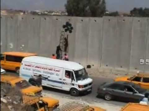 Banksy on The West Bank - Gaza Strip (Channel 4 News)