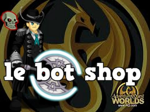 =AQW= How to Open Shop At Le Bot or Dark Mystic !!!