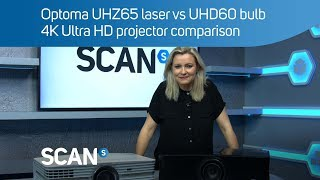 Optoma UHZ65 laser vs UHD60 bulb 4K Ultra HD projector comparison - Best under £5000?