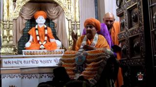 Guru Purnima, Evening Darshan - Guruhari Darshan 12 Jul 2014, Sarangpur, India