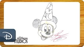 How-To Draw Sorcerer Mickey From 'Fantasia'