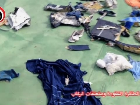Raw: Video of EgyptAir Crash Debris Released