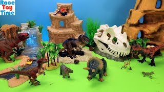 Schleich Dino Skull Trap Adventure Playset and Fun Dinosaurs Toys For Kids - Learn Dinosaur Names