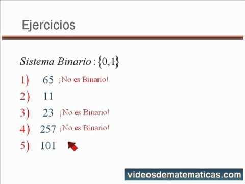 Sistemas de Numeracion - Números Binarios  www.videosdematematicas.com
