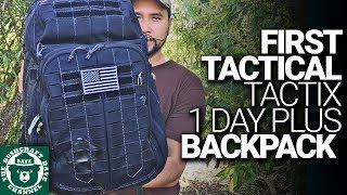 FIRST TACTICAL TACTIX 1 Day Plus Backpack: Versatile Pack for Tactical, Hiking, EDC, & Travel