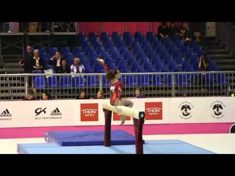 Sophia SERSERI FRA, Beam, Team Final, European Gymnastics Championships 2012 (Missing Mount)