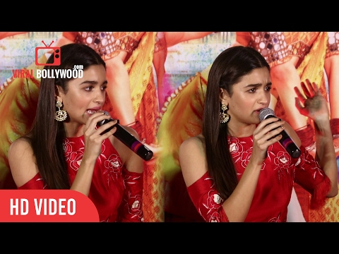 Alia Bhatt Angry Reaction To A Media Reporter | Badrinath Ki Dulhania Official Trailer Launch
