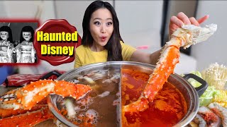 KING CRAB LEGS + GIANT SHRIMP SPICY HOT POT MUKBANG 먹방 | Eating Show