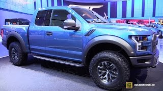 2017 Ford F150 Raptor - Exterior and Interior Walkaround - Debut at 2015 Detroit Auto Show