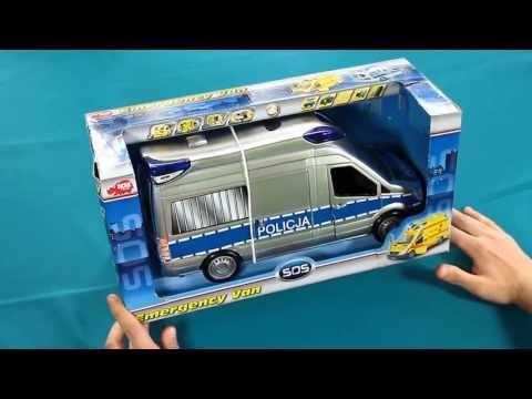 Emergency Van - Polizeifahrzeug / Samochód Ratunkowy - Policja - Dickie