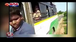 TSRTC Bus Seized Due To Overload In Jagtial   Teenmaar News