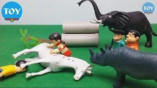 Đồ chơi doremon - Nobita xui xẻo quậy phá chú ngựa vằn của Shizuka