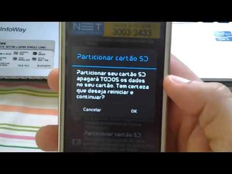 Como Reparticionar e mover aplicativos para cartão de memória LG L71