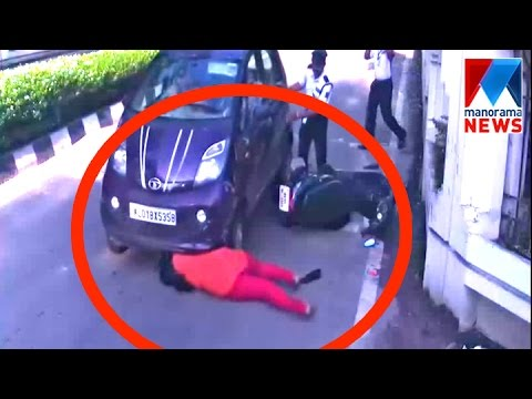 Accident In Front Of Technopark Front Gate | Manorama News