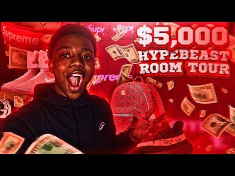 MY 5,000 DOLLAR HYPEBEAST ROOM TOUR!