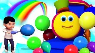 Brincar Com Balões | Canções Para Crianças | Play With Balloons | Bob The Train Songs | Kids Rhymes