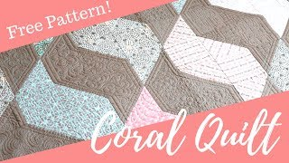 Show Off Your Favorite Fabrics with The Coral Quilt: A free Quilt Pattern Designed by Angela Walters