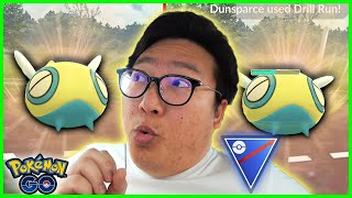 I DID NOT EXPECT DUNSPARCE TO BE THIS GOOD IN GO BATTLE - POKEMON GO BATTLE GREAT LEAGUE