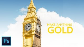 Photoshop Tutorial: How to make anything GOLD   manipulation by timhelou