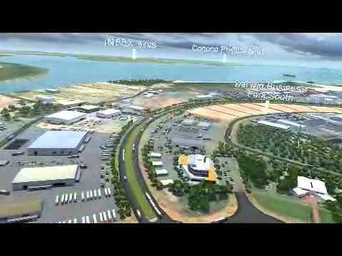 Darwin Port 3D fly through New