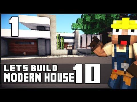 Minecraft Lets Build: Modern House 10 - Part 1