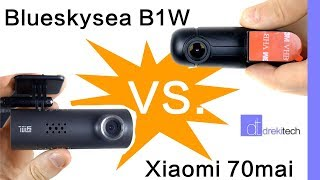 Blueskysea B1w Vs. Xiaomi 70mai (70 minutes) dashcam showdown!