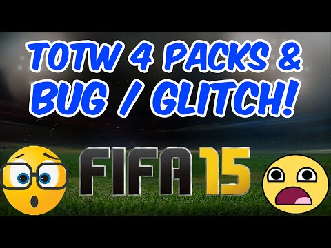 FIFA 15 Bug Glitch WTF EA! Game Fail   Ultimate Team & TOTW 4 Pack Opening FUT 15