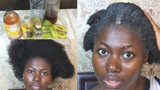 YOUR HAIR WILL GROW LIKE CRAZY. BANANA HAIR MASK FOR RAPID HAIR GROWTH
