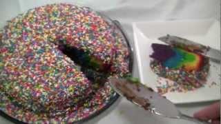 Receita: bolo arco-íris