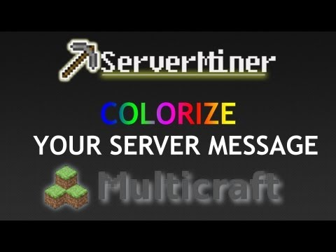 How to colorize your server message!