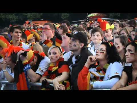 German fans watch on as Italy triumph