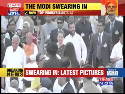 Rahul Gandhi and Sonia Gandhi attend Modi's swearing-in