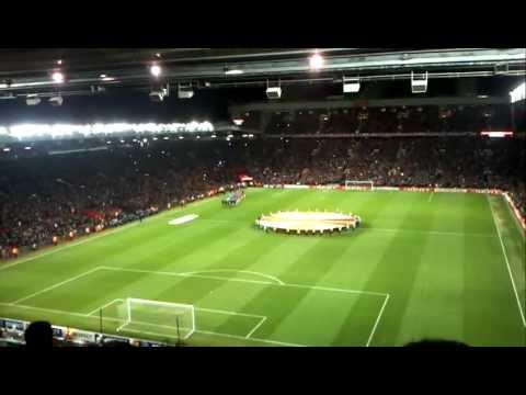 Manchester United - Ajax 23-02-12 Opkomst spelers