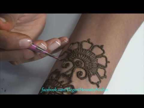 3. Repeatable Floral HennaMehndi Design by Elegant Henna
