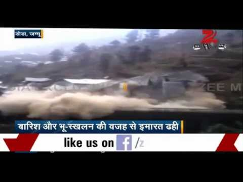 Watch: Building collapses in Doda in Jammu and Kashmir
