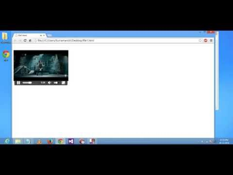 HTML5 Video Tag - How To Run Videos In Browser Using HTML