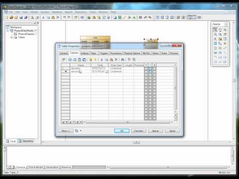 Tutorial PowerDesigner, exportando para o Mysql