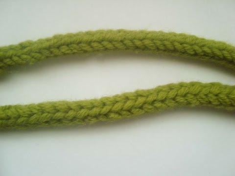 Как связать полый шнурок