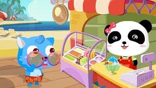 Quán ăn của Gấu con - Bé học làm các món kem hoa quả cùng Gấu con