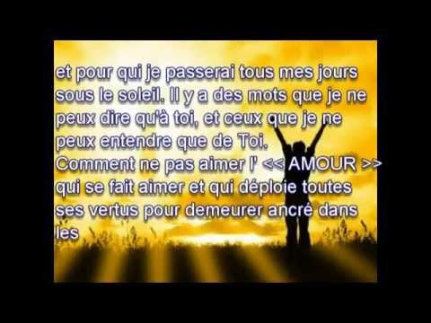 TU M'AS RENDU LA VIE (avec les paroles) par Alain Moloto